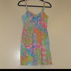 Lilly Pulitzer Lovers Coral Spaghetti Strap Dress